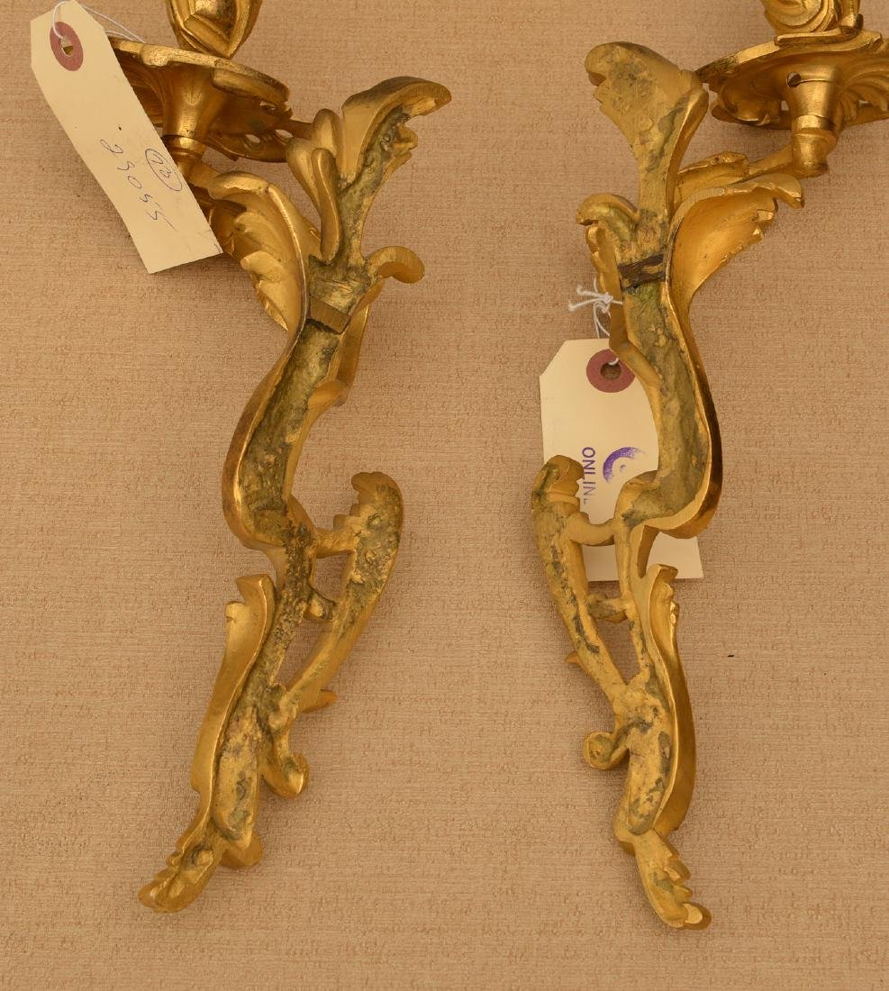 Louis XV style ormolu candlesticks and sconces - 6