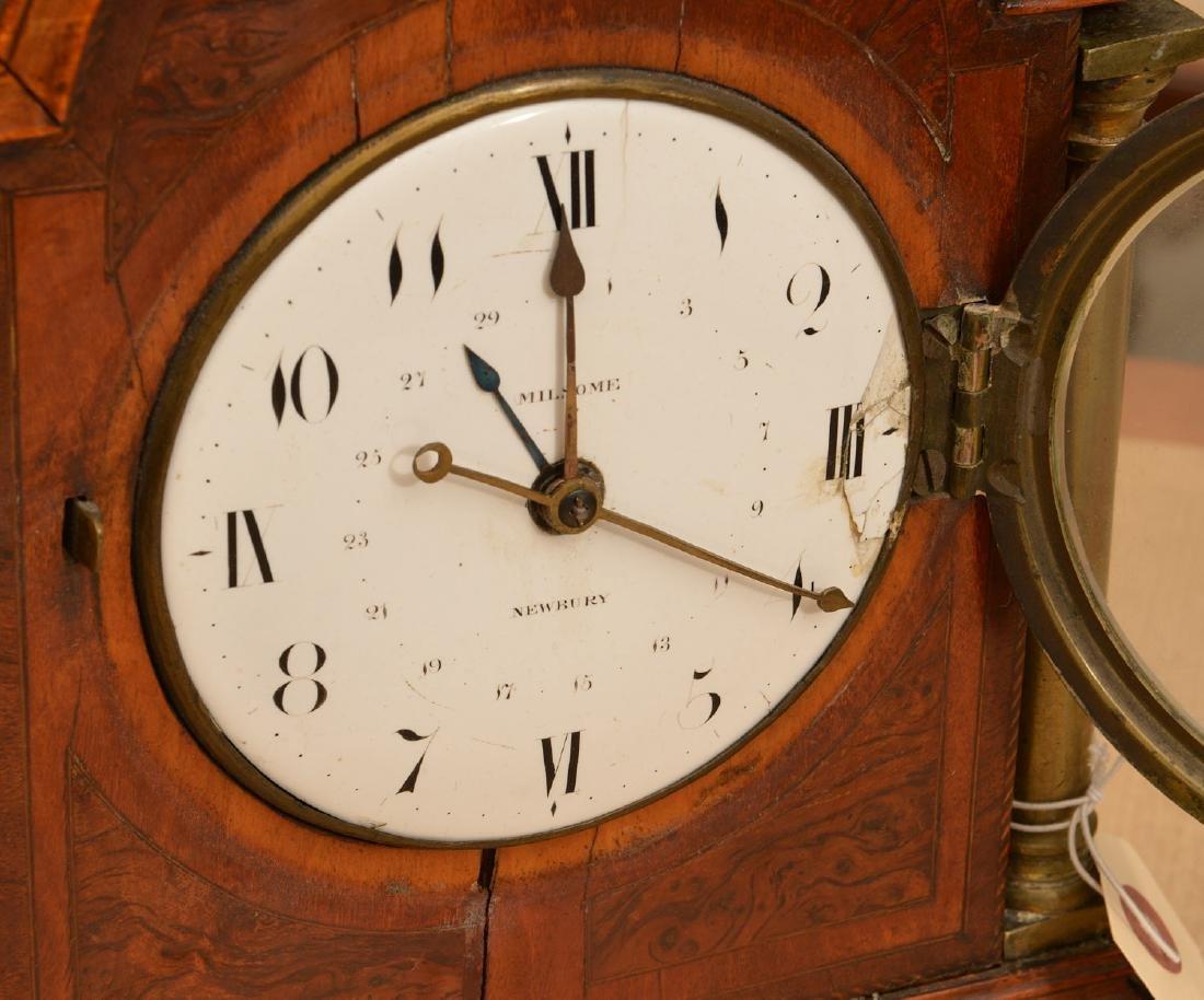 English mahogany and burl wood bracket clock - 2