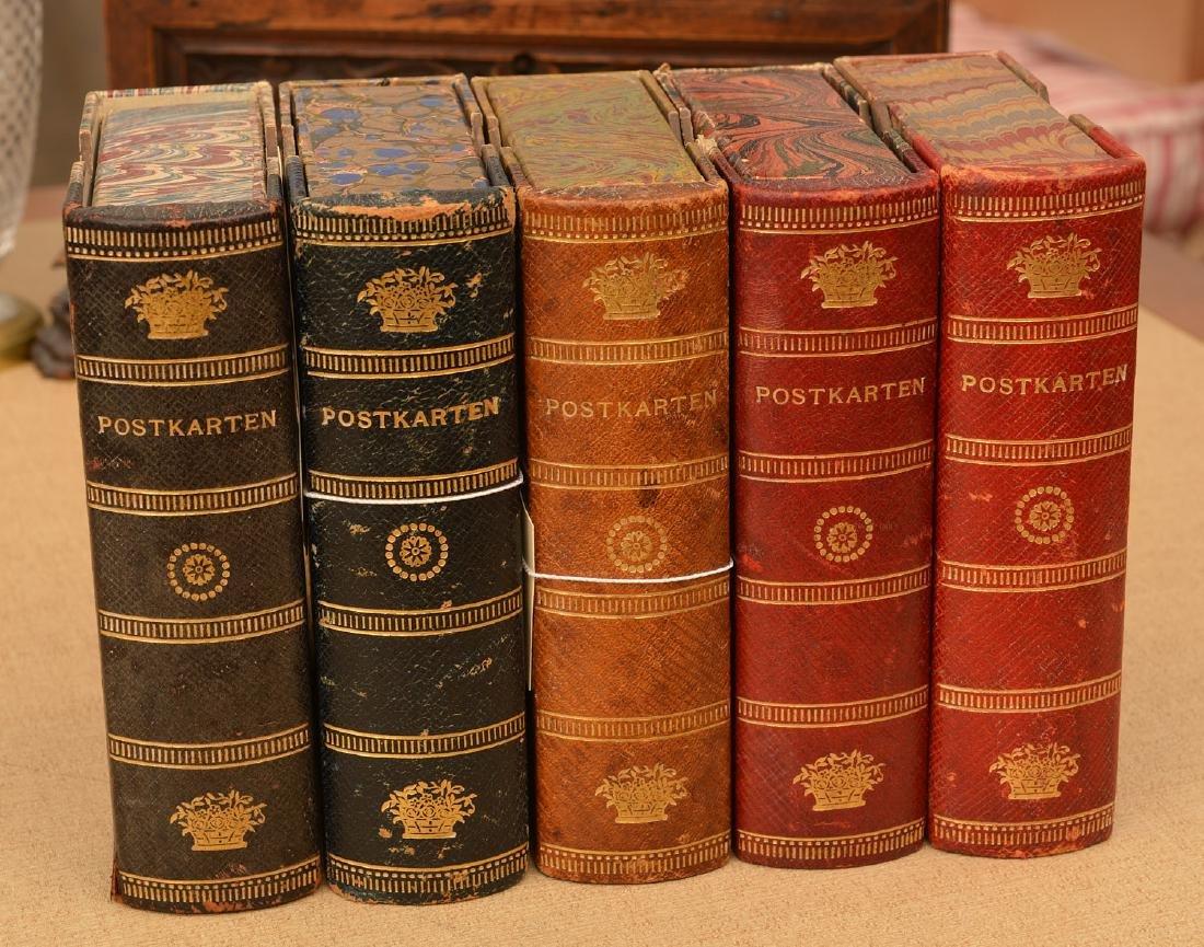 "(5) ""Postkarten"" cases: postcard collection"