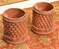Pair Italian style terra cotta planters