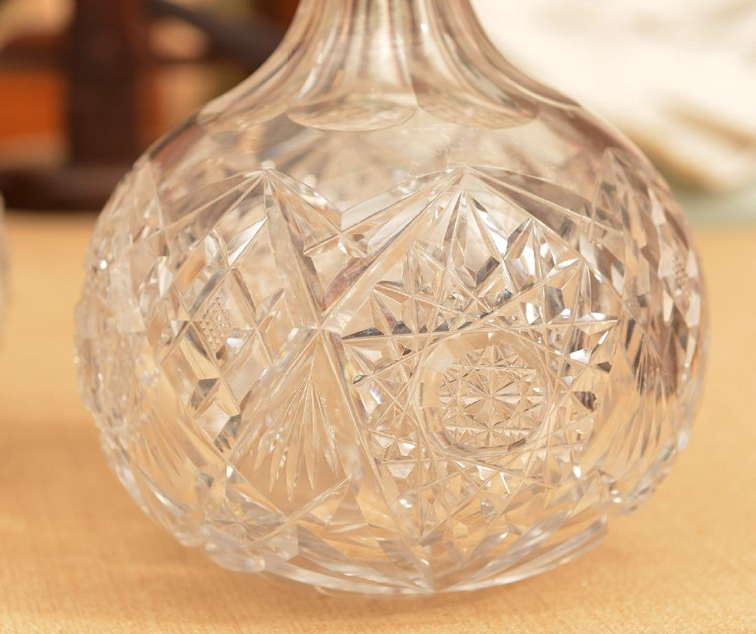 Continental .800 silver mounted crystal decanters - 3
