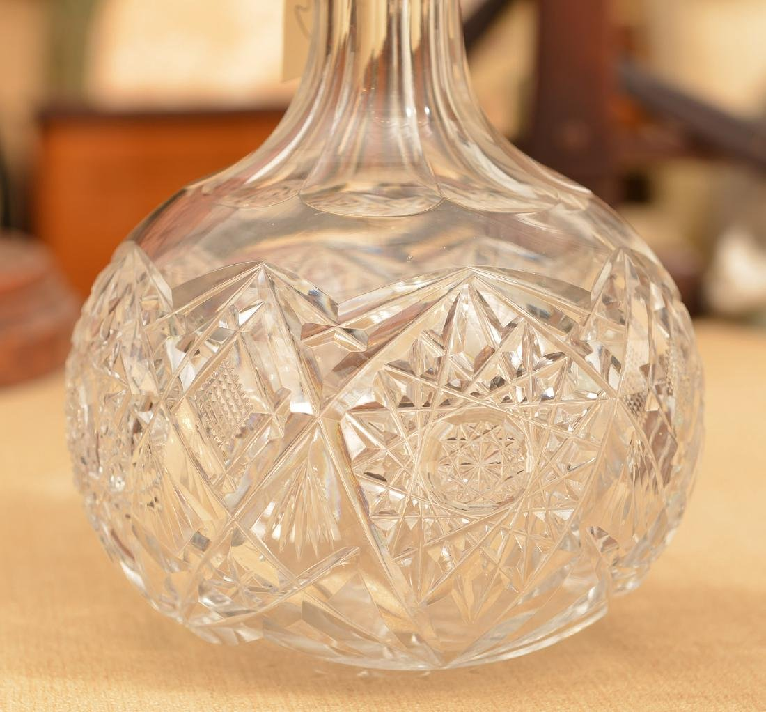 Continental .800 silver mounted crystal decanters - 4