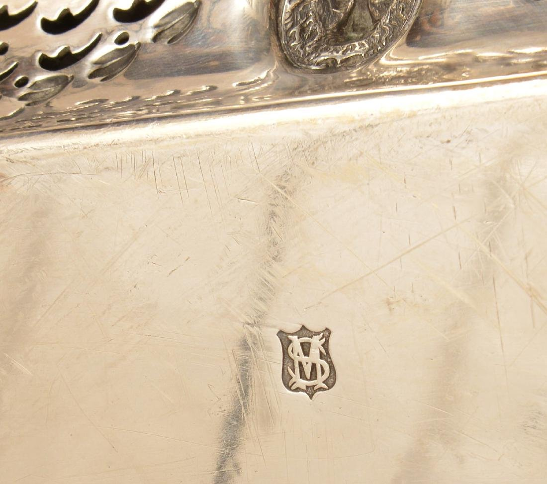 (2) English silver plated serving trays - 9