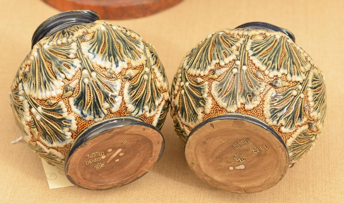 Pair Gerbing & Stephan majolica pitchers - 4