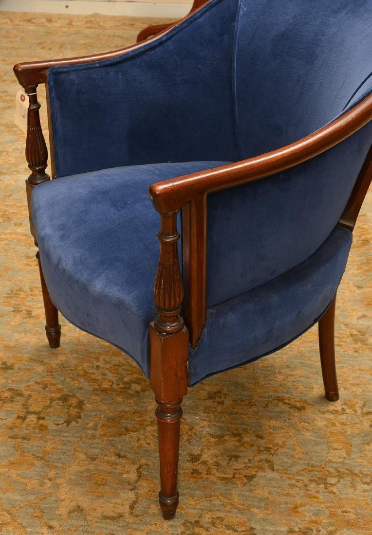 George III style mahogany bergere