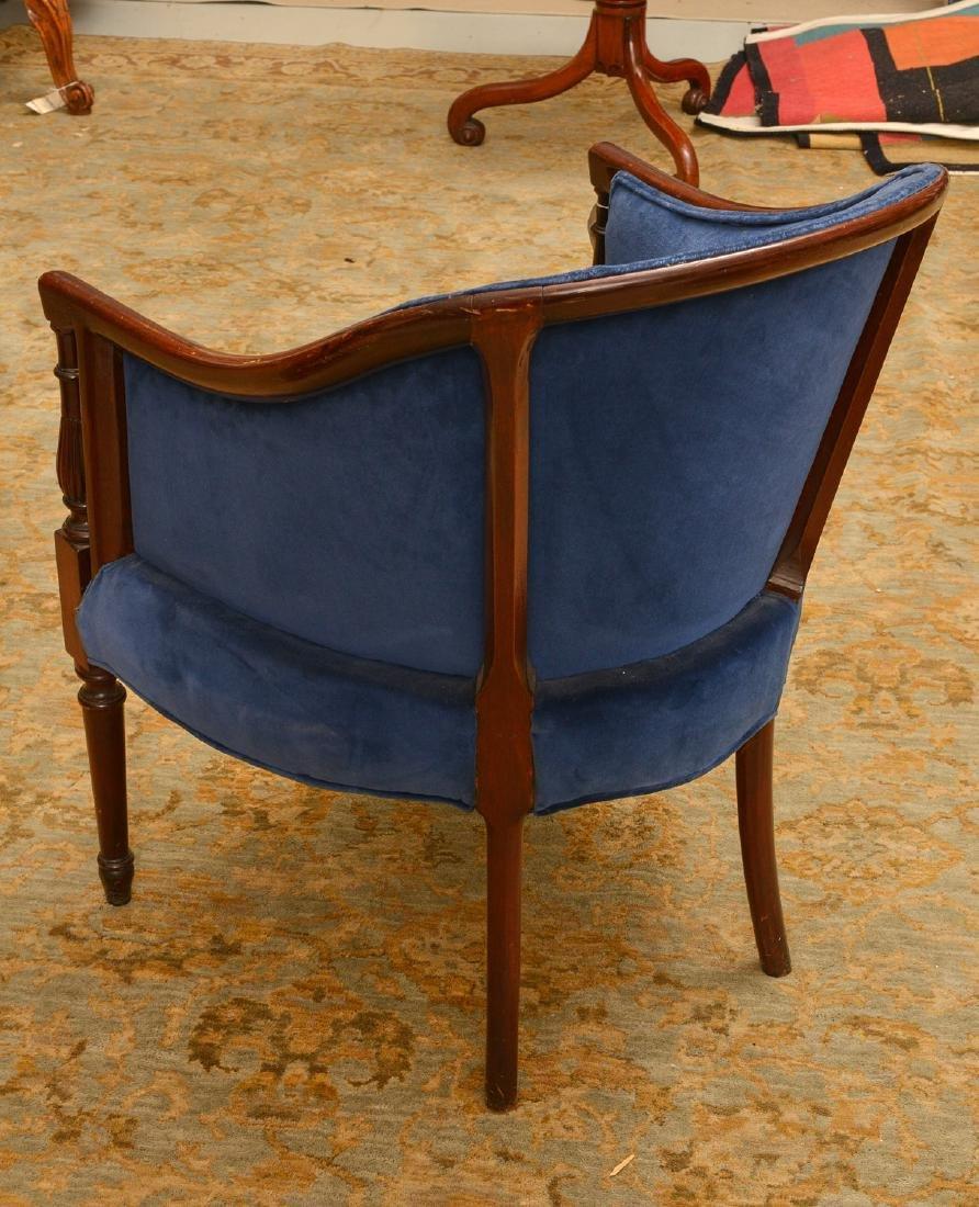 George III style mahogany bergere - 2