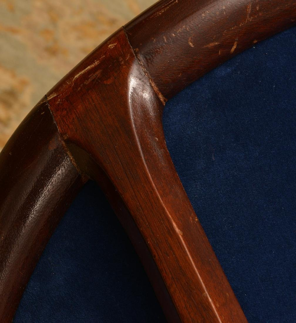George III style mahogany bergere - 3