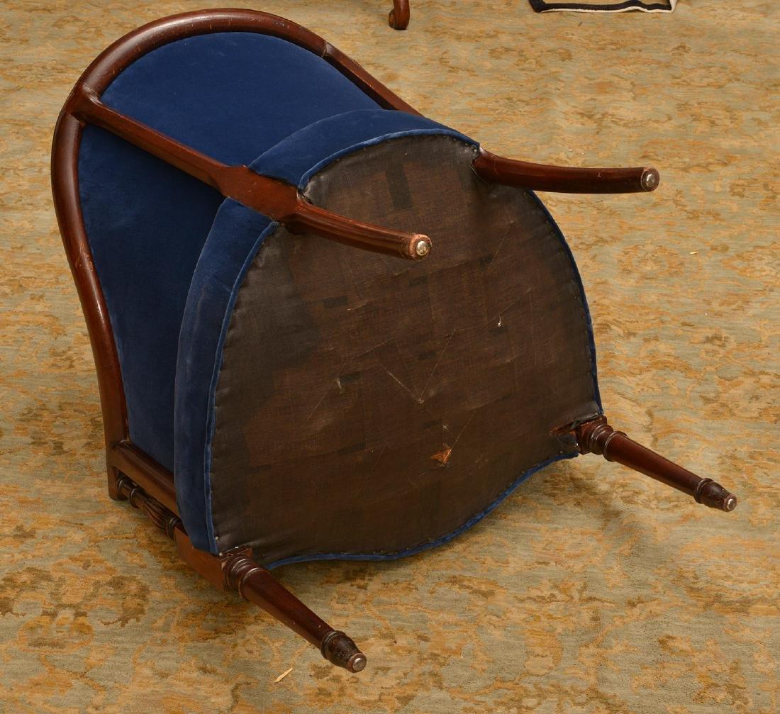 George III style mahogany bergere - 4