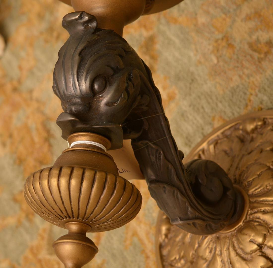Pair bronze and ebony sconces - 2