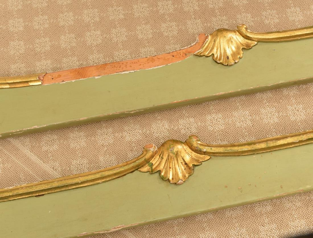 Louis XV style paint decorated twin bedstead - 7