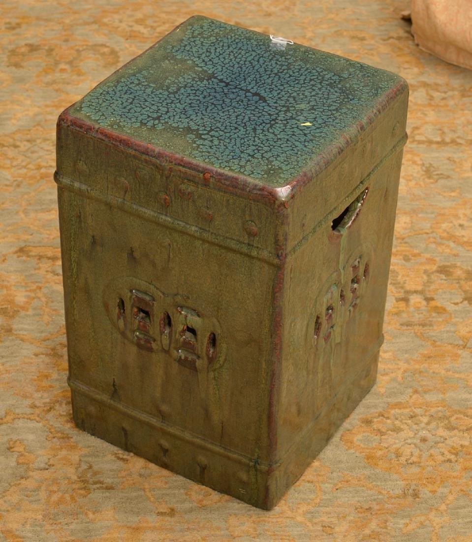 Chinese glazed ceramic square garden seat