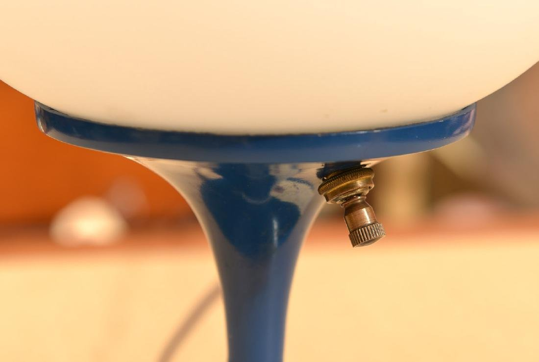 Laurel Co. blue enameled globe lamp - 2