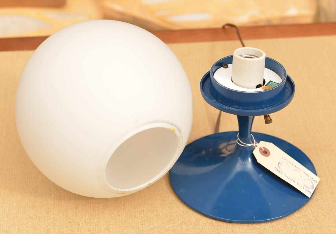 Laurel Co. blue enameled globe lamp - 3