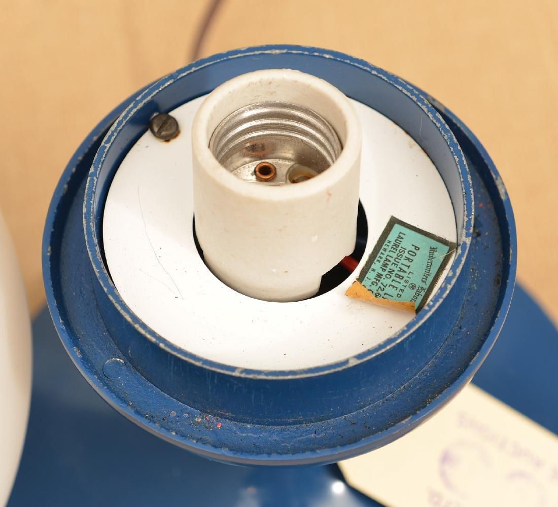 Laurel Co. blue enameled globe lamp - 4