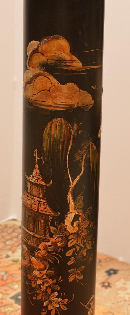 Italian chinoiserie decorated column pedestal - 2