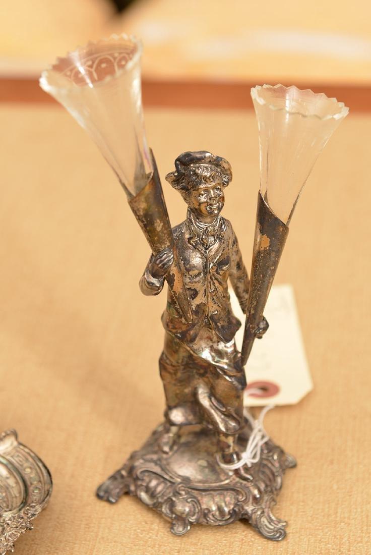 (2) small silver plated desk accessories - 2