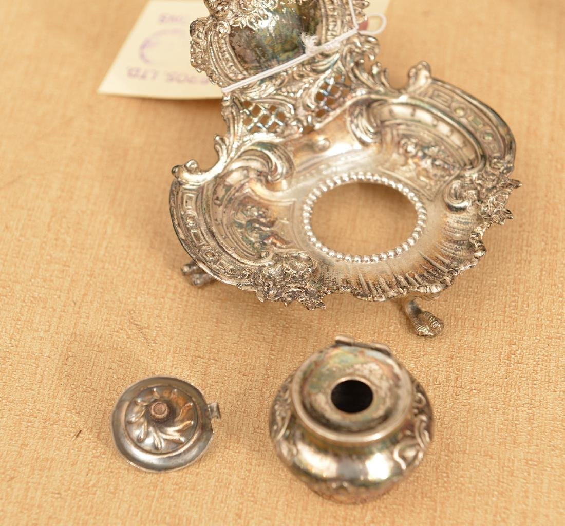 (2) small silver plated desk accessories - 3