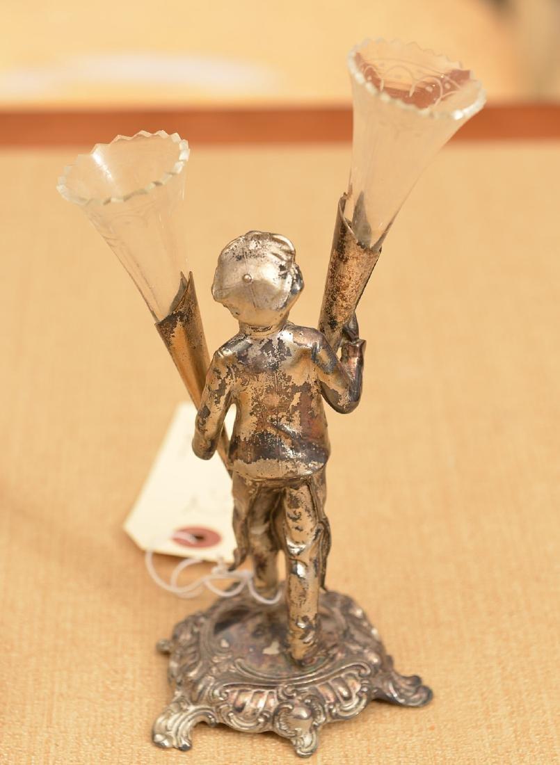 (2) small silver plated desk accessories - 4