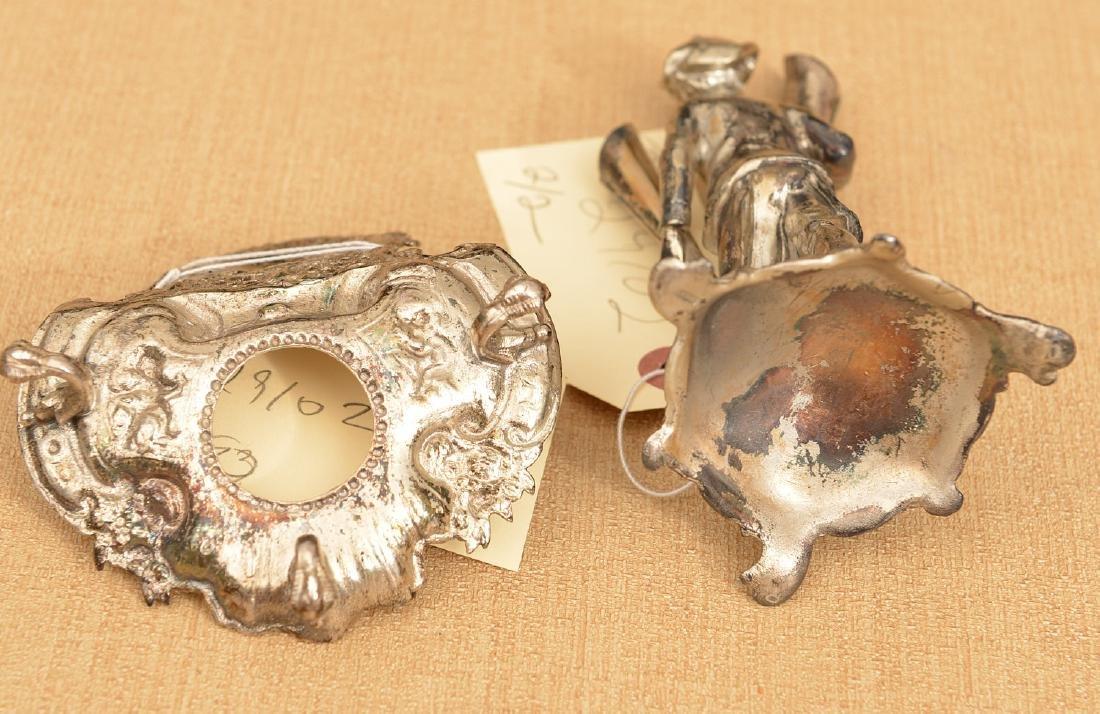 (2) small silver plated desk accessories - 6