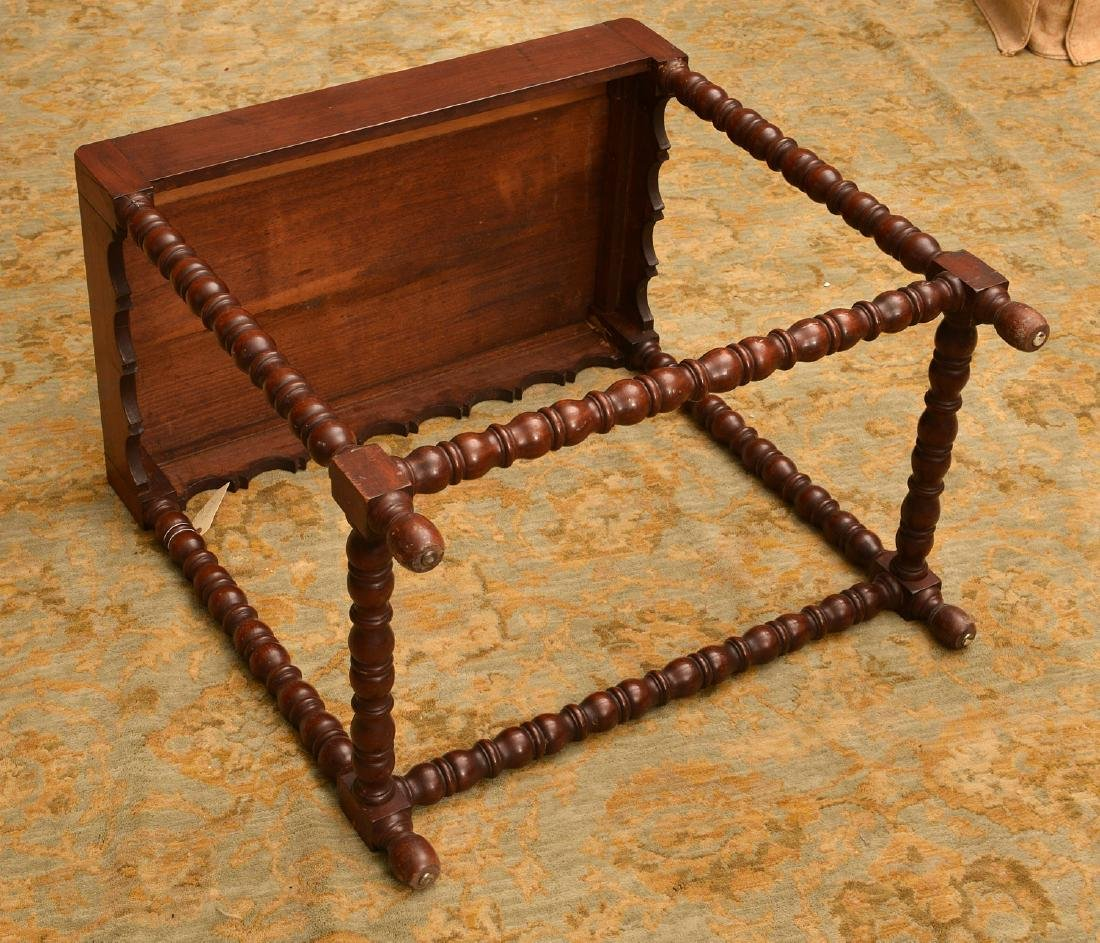 Late Victorian side table with bobbin-turned legs - 3
