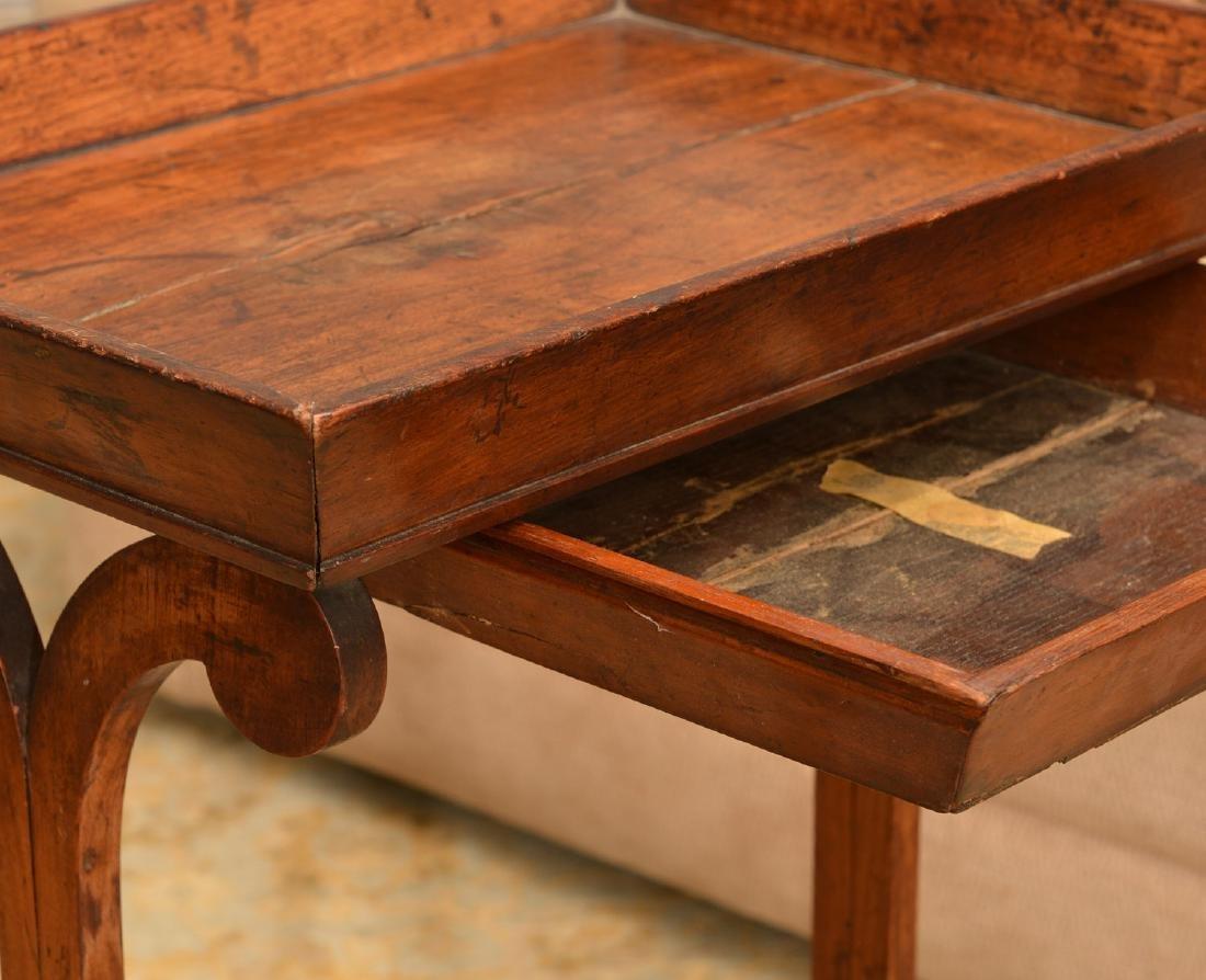 Biedermeier tray top occasional table - 4