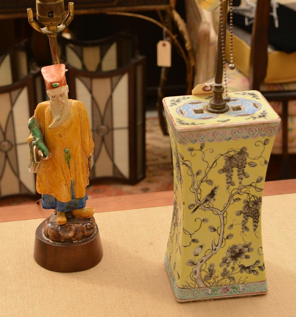 (2) Chinese Export porcelain lamps