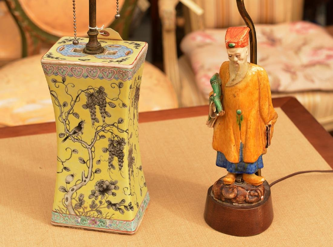 (2) Chinese Export porcelain lamps - 2