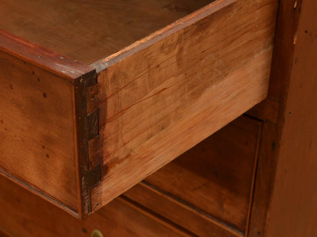 American Chippendale walnut slant front bureau - 6