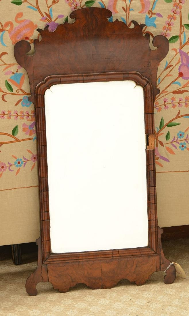 George II burl walnut wall mirror