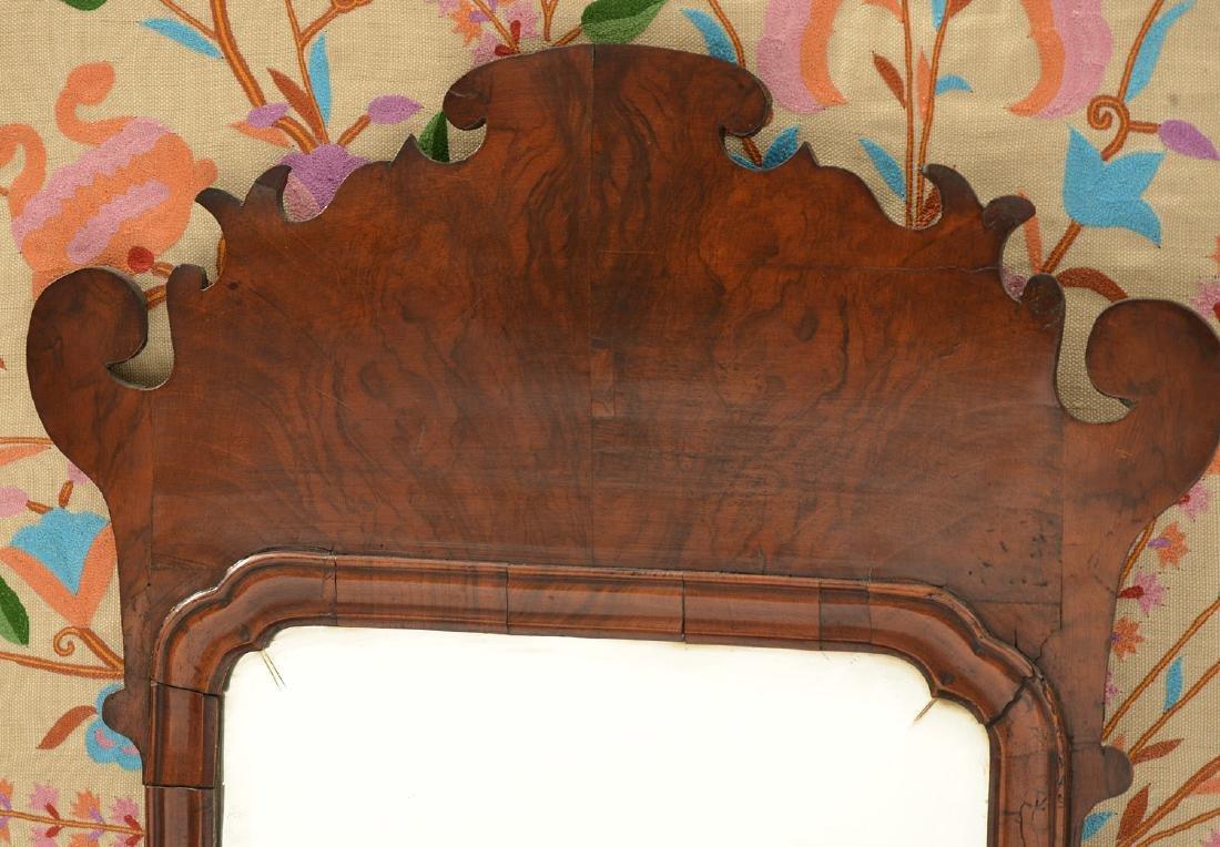 George II burl walnut wall mirror - 2