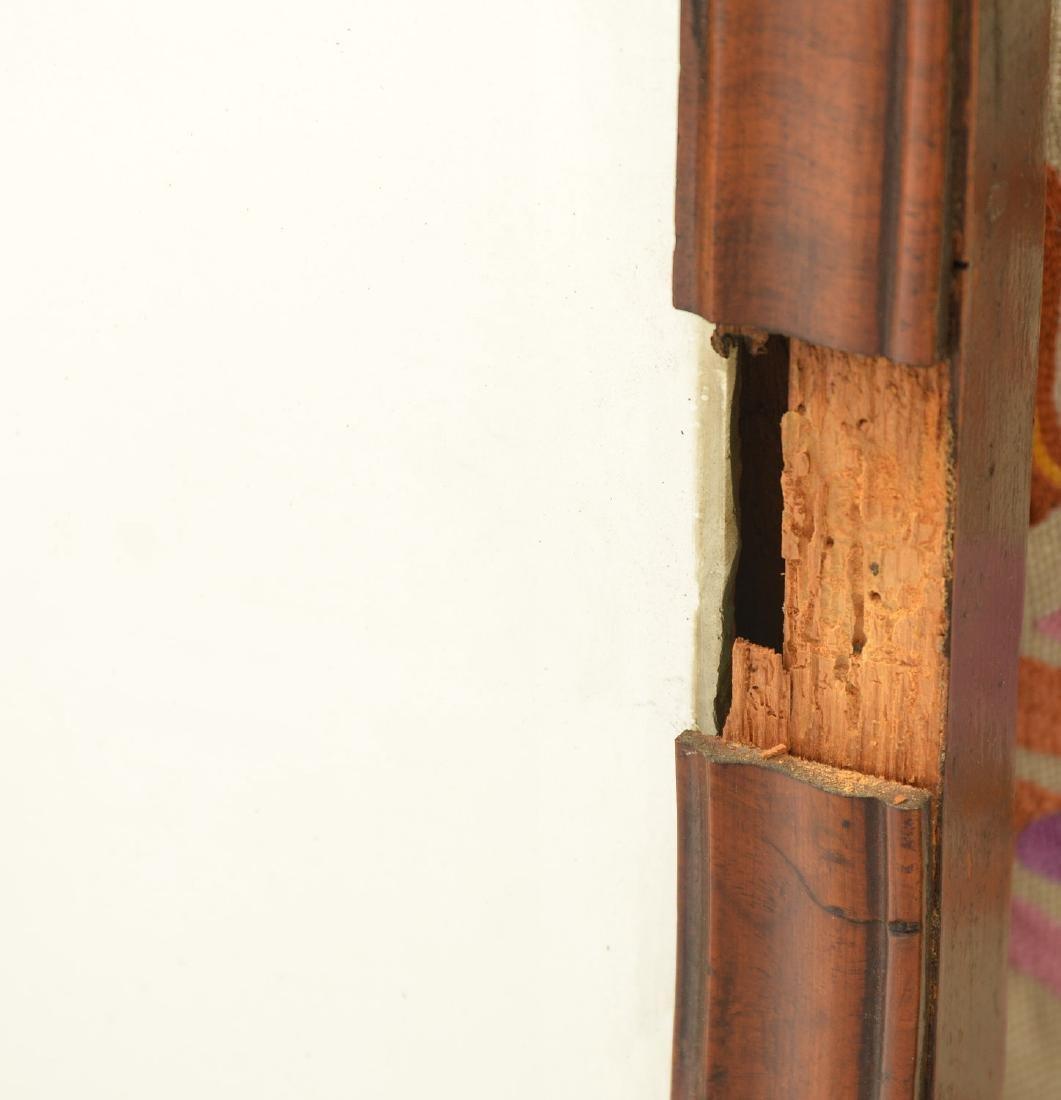 George II burl walnut wall mirror - 3