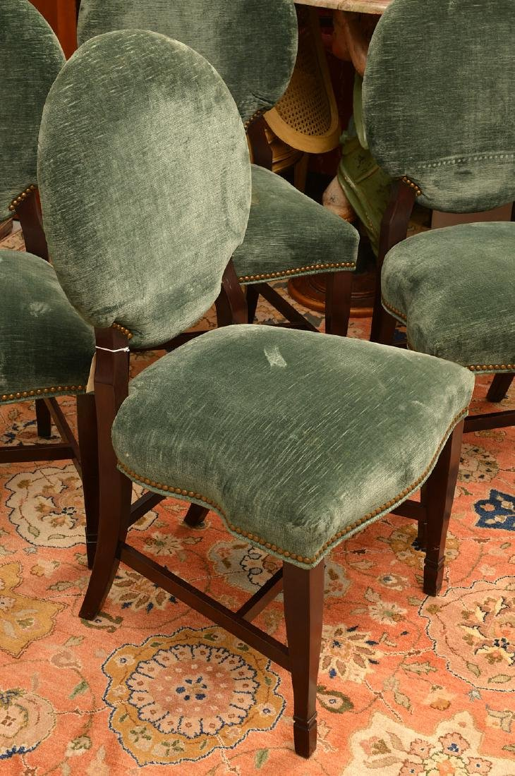 Set (6) Decorator oval back dining chairs - 2