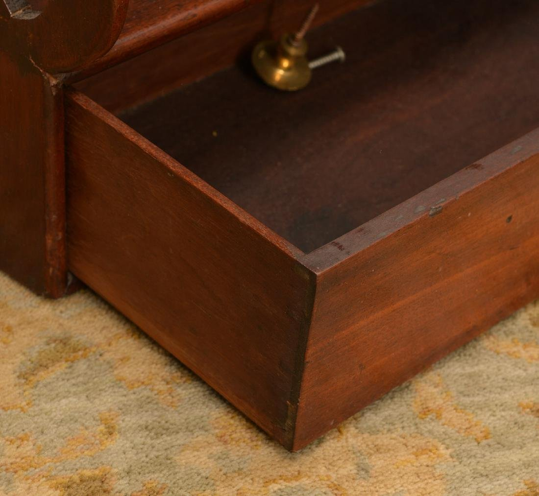 Regency style hanging shelf with drawers - 5