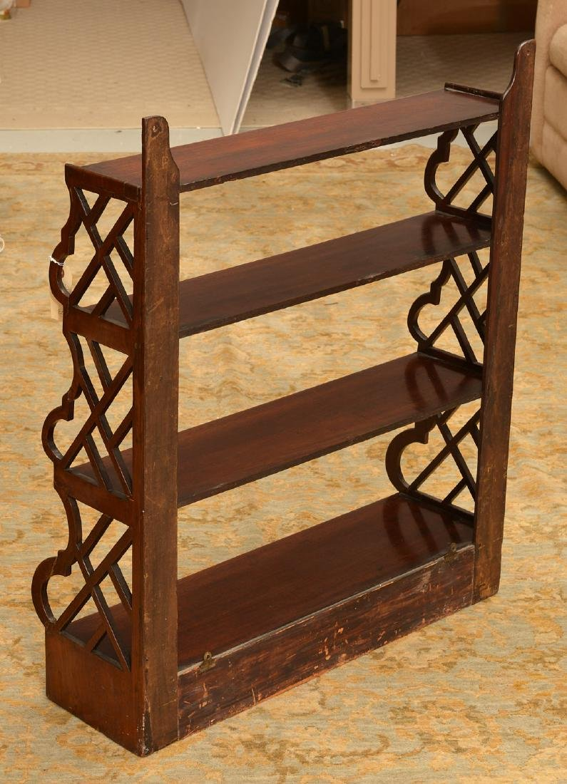 Regency style hanging shelf with drawers - 6