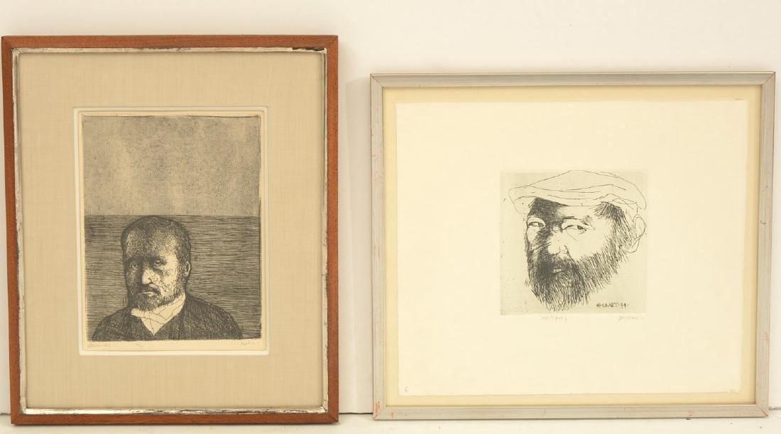 Leonard Baskin, (2) etchings