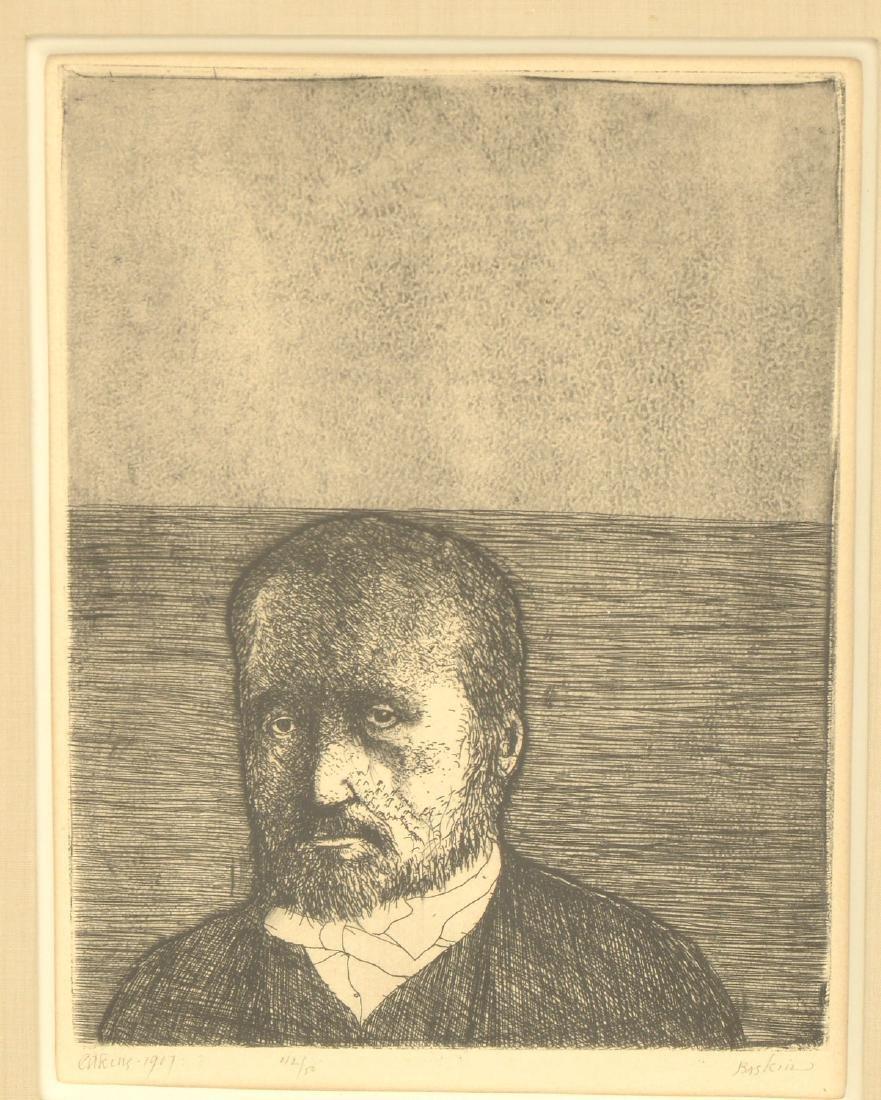 Leonard Baskin, (2) etchings - 2