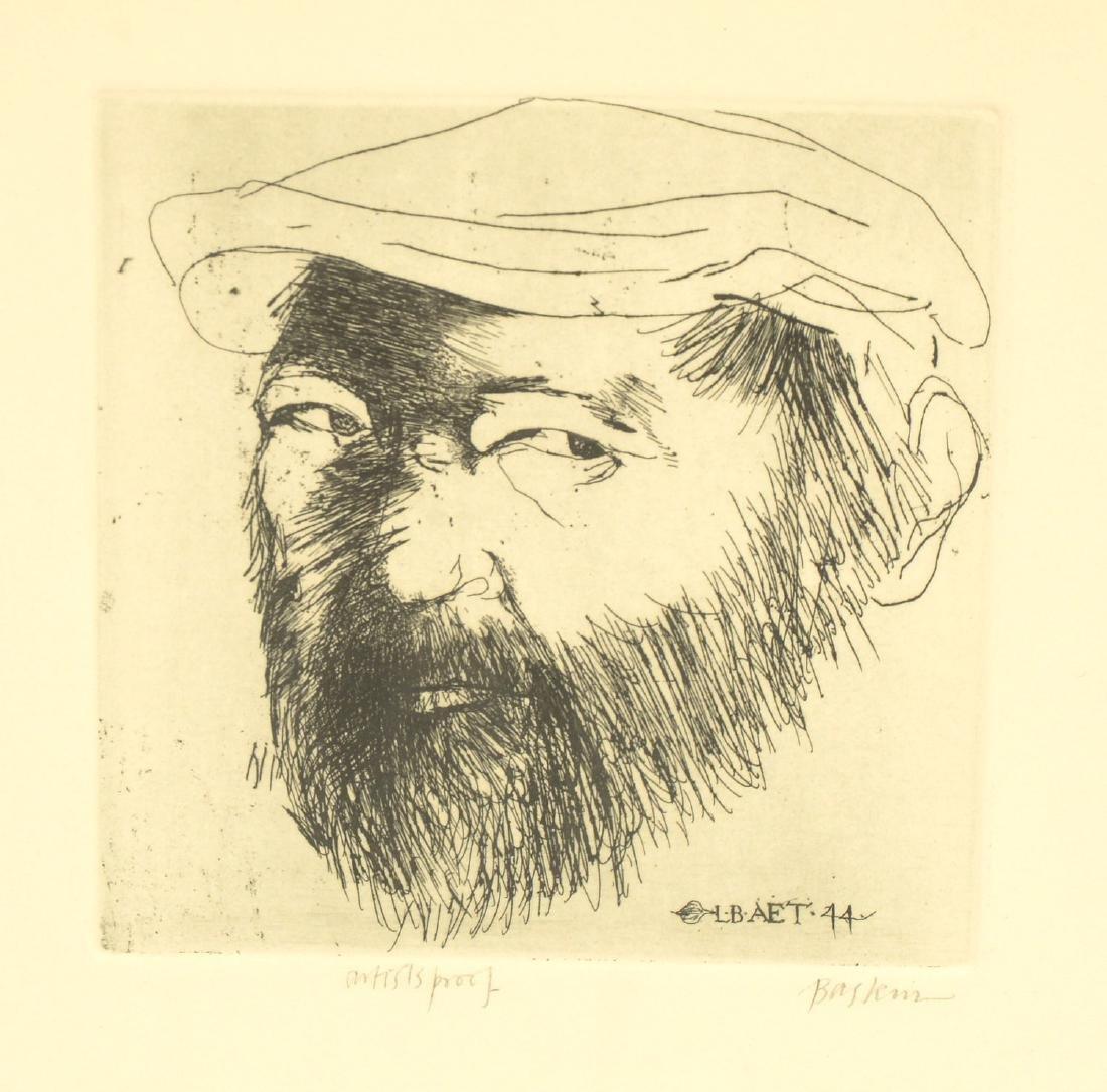Leonard Baskin, (2) etchings - 3