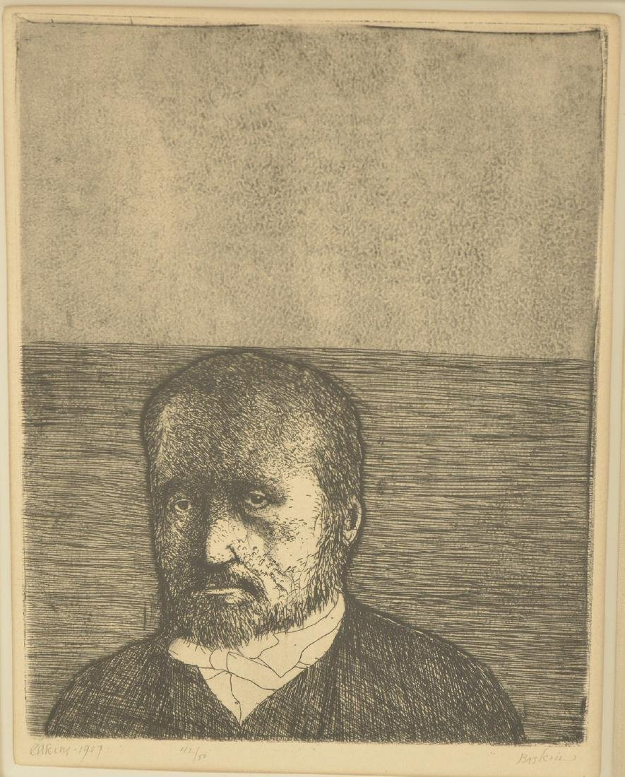 Leonard Baskin, (2) etchings - 4