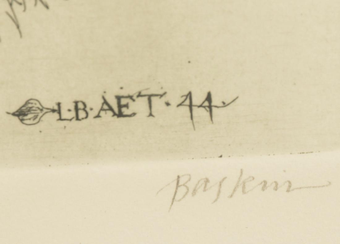 Leonard Baskin, (2) etchings - 7