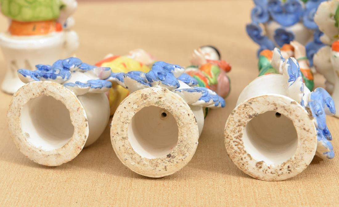Set (8) Chinese glazed porcelain Immortals - 10