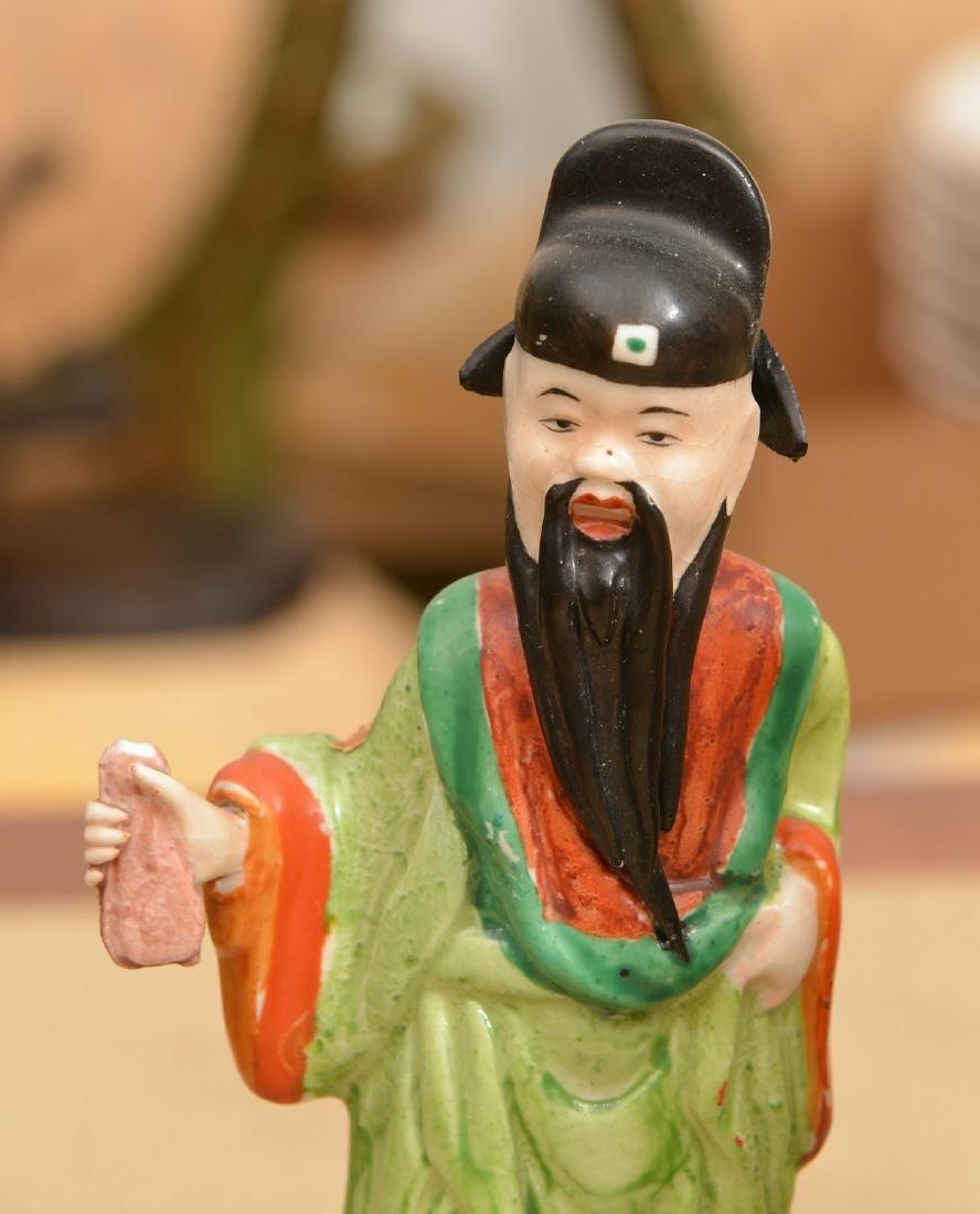 Set (8) Chinese glazed porcelain Immortals - 2