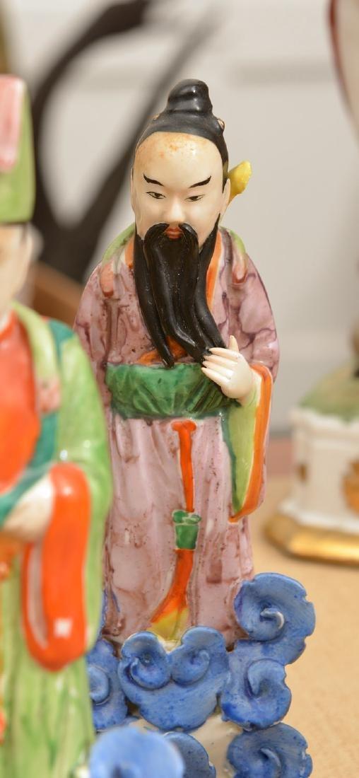 Set (8) Chinese glazed porcelain Immortals - 4