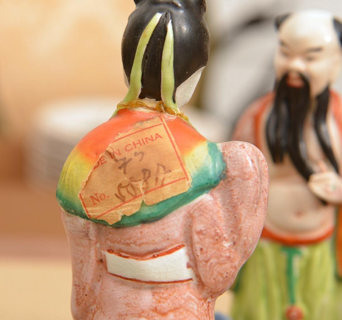 Set (8) Chinese glazed porcelain Immortals - 8