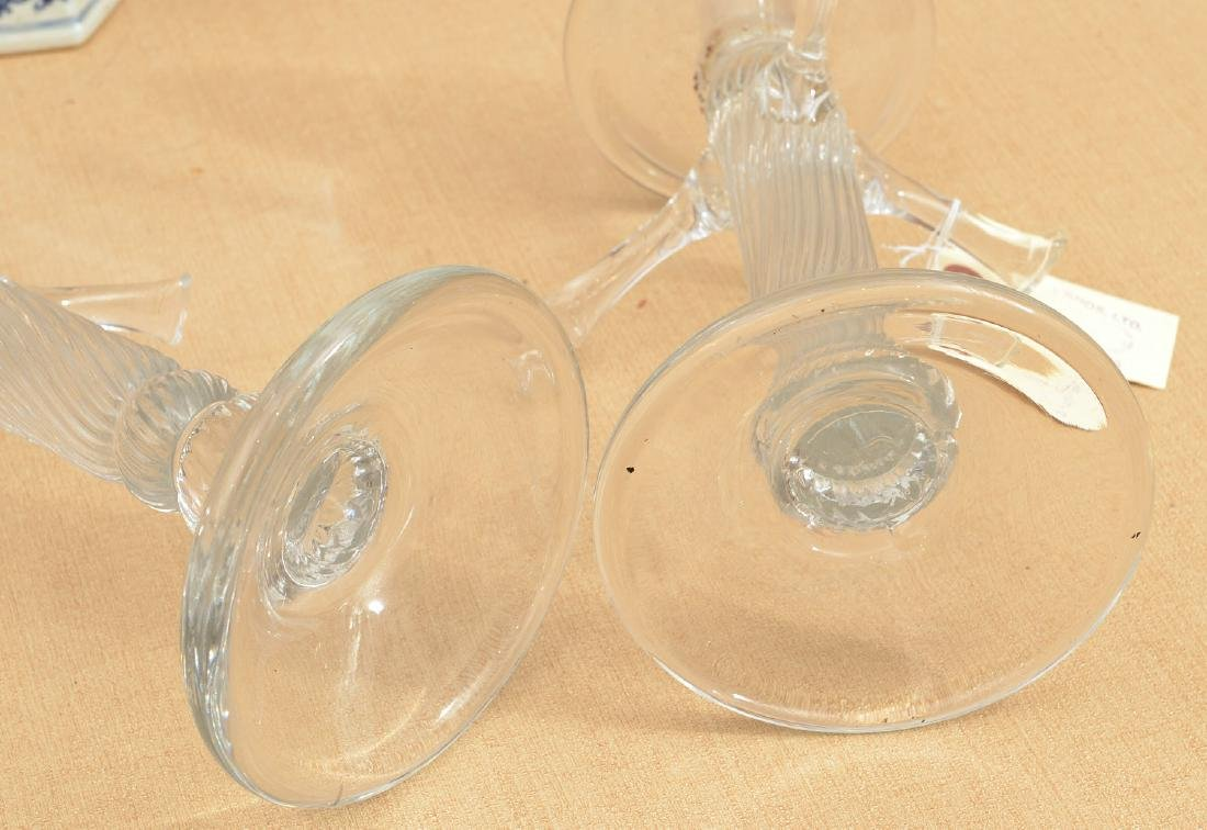 Tree-form Studio glass candlesticks and shades - 6