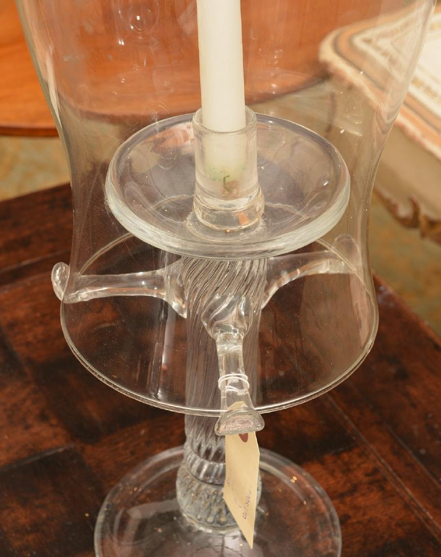 Tree-form Studio glass candlesticks and shades - 7