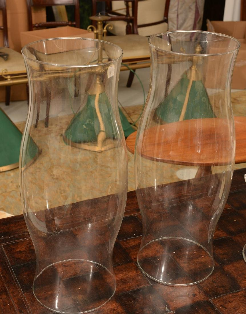 Tree-form Studio glass candlesticks and shades - 8