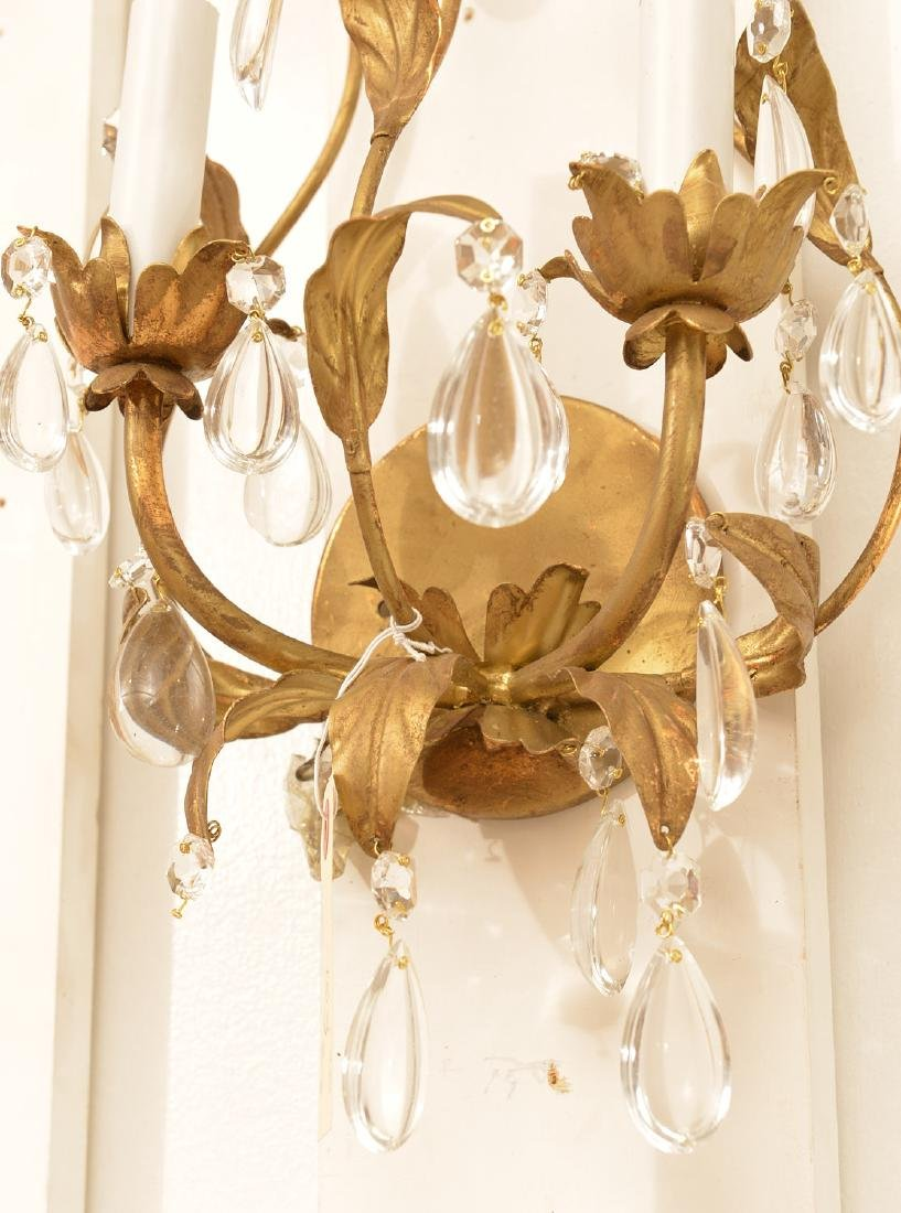 Pair Italian gilt metal bow-knot scones - 5