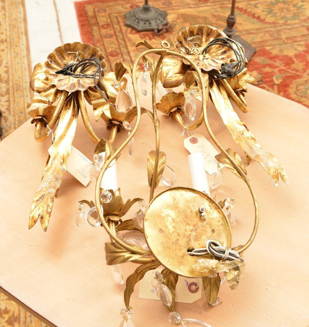 Pair Italian gilt metal bow-knot scones - 6