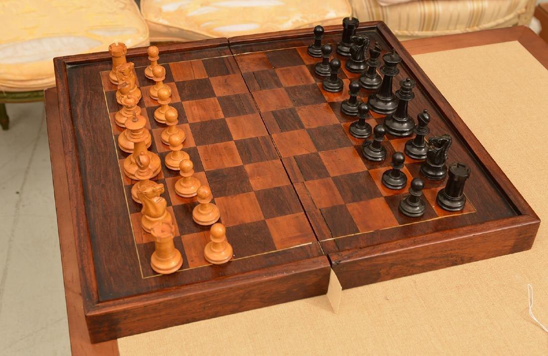 Staunton style chess set and Syrian case