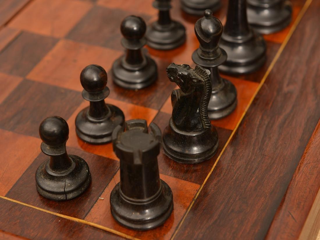 Staunton style chess set and Syrian case - 3